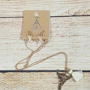 Tipi Jewelry - 💎BOGO Western Steer Head Tassel Necklace Earrings